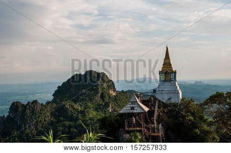Unseen temple on mountains , Wat Chaloem Prakiat Lampang