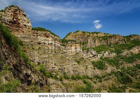 Lakatnik rocks during the spring, Sofia province, Bulgaria