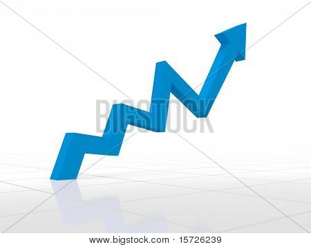 Business Graph - High growth