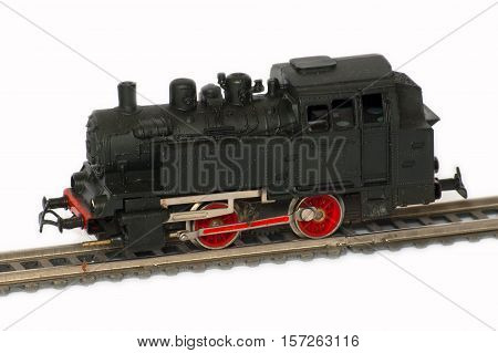 Railway Modeller. Damaged model railroad. Toy for children that was produced in the German Democratic Republic in the second half of the twentieth century.