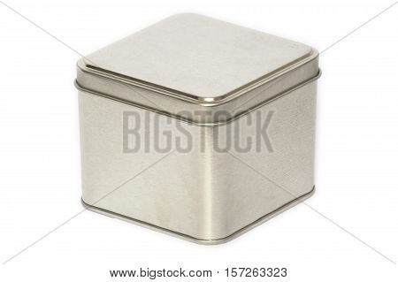 Metal box made of frosted sheet. Subject designed for storing small things.