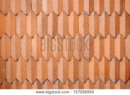 traditional red wall made from stone sand.