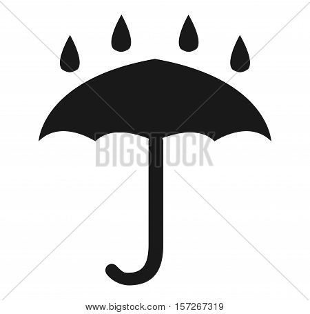 a waterproof icon on a white background