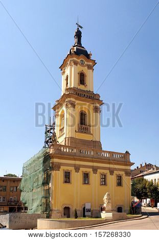 Buchach town hall - unique architectural monument of the middle 18th century in Buchach Ternopil region, Ukraine.