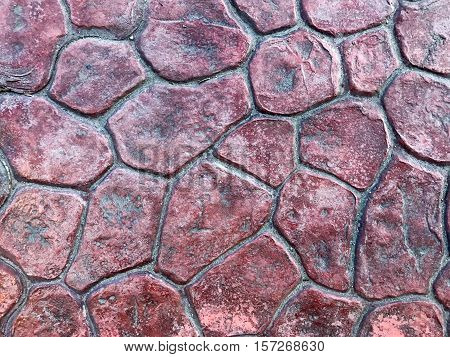 Prefabricated footpath slab Thailand. background texture tile