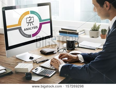 Analysis Data Global Information Insight Concept