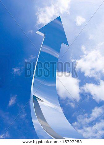 The chrome arrow aspire to sky