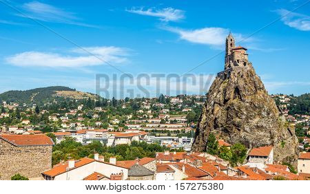 Church at the rock - Saint Michel d Aiguilhe near Le Puy en Velay