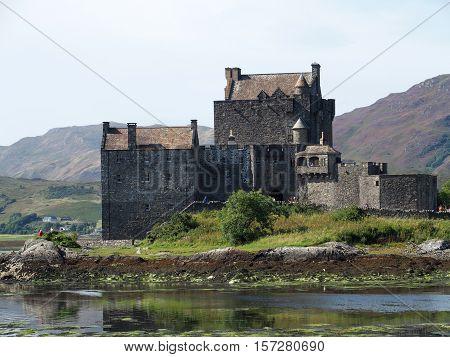 Medieval Eilean Donan castle in summer, Scotland