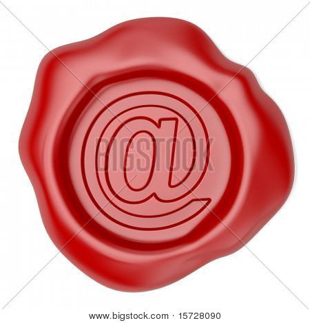 Wax seal with email sign