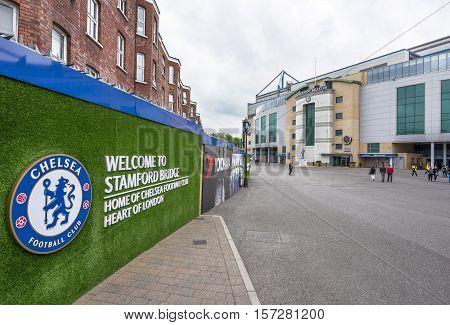 London, the UK - May 2016: Visiting FC Chelsea stadium - Stamford Bridge arena