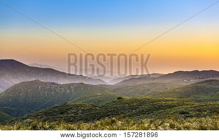 Cleveland National Forest In Sunset, California