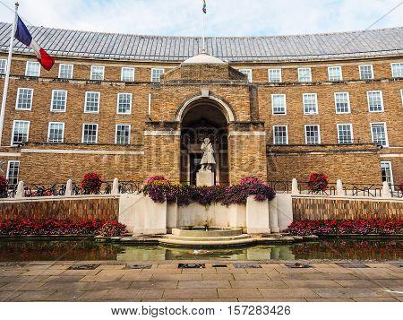 Hdr City Hall In Bristol