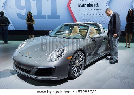 Porsche 911 Convertible On Display
