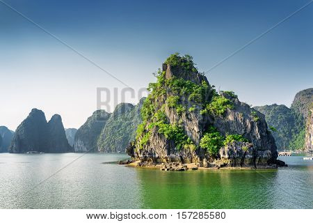 Scenic View Of The Ha Long Bay, The South China Sea, Vietnam