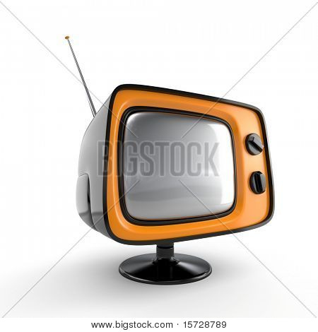 Stylish retro TV - black edition. More TV in my portfolio.
