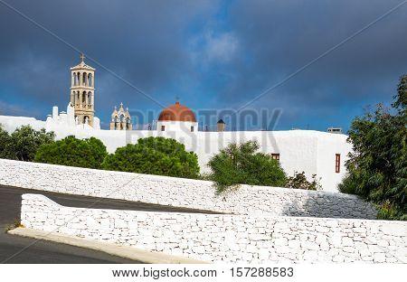 Greece Mykonos Ano Mera the Panagia Tourliani monastery