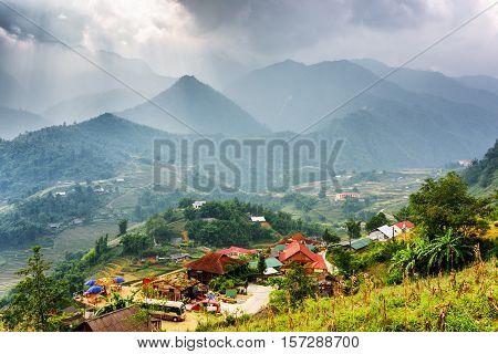 View Of Cat Cat Village At Sa Pa District, Vietnam