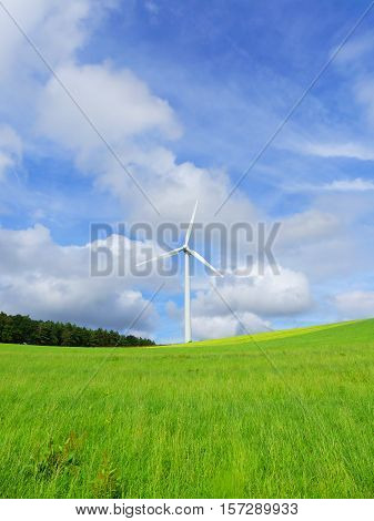 This is a wind turbine in Kallmuth. Kallmuth is a very small town in Germany.