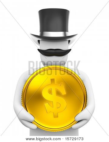 Gentleman and coin