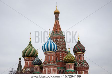 Saint Basil's Cathedral, Is A Church In Moscow, Russia
