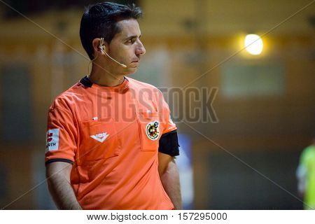 VALENCIA, SPAIN - NOVEMBER 8th: Referee during Spanish King Cup match between Levante UD FS and FC Barcelona at Cabanyal Stadium on November 8, 2016 in Valencia, Spain