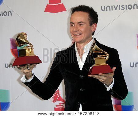 LAS VEGAS - NOV 17:  Fonseca at the 17th Annual Latin Grammy Awards Press Room at T-Mobile Arena on November 17, 2016 in Las Vegas, NV