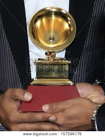 LAS VEGAS - NOV 17:  General Atmosphere, Grammy Statue at the 17th Annual Latin Grammy Awards Press Room at T-Mobile Arena on November 17, 2016 in Las Vegas, NV
