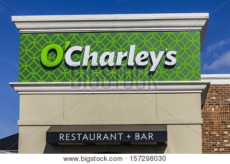 Indianapolis - Circa November 2016: O'Charley's Casual Dining Restaurant. O'Charley's is part of American Blue Ribbon Holdings I
