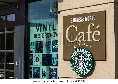 Indianapolis - Circa November 2016: Barnes & Noble Retail Location. Many Barnes & Noble locations include a Cafe that serve Starbucks Coffee VI
