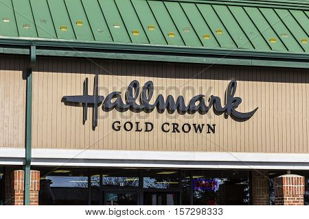 Indianapolis - Circa November 2016: Hallmark Gold Crown Retail Greeting Card and Gift Shop. Hallmark Cards is a privately owned American company based in Kansas City I