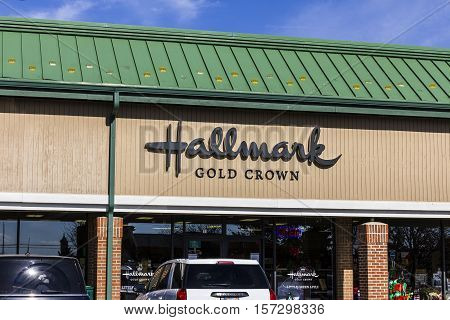 Indianapolis - Circa November 2016: Hallmark Gold Crown Retail Greeting Card and Gift Shop. Hallmark Cards is a privately owned American company based in Kansas City II