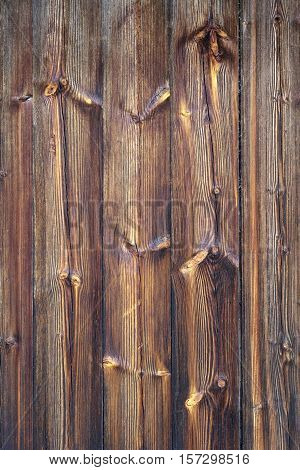 Barn Wooden Wall Planking Texture. Reclaimed Old Solid Wood Slats Rustic Vertical Background. Home Interior Design Element In Modern Vintage Style. Paint Hardwood Brown Structure. Abstract Studio Backdrop