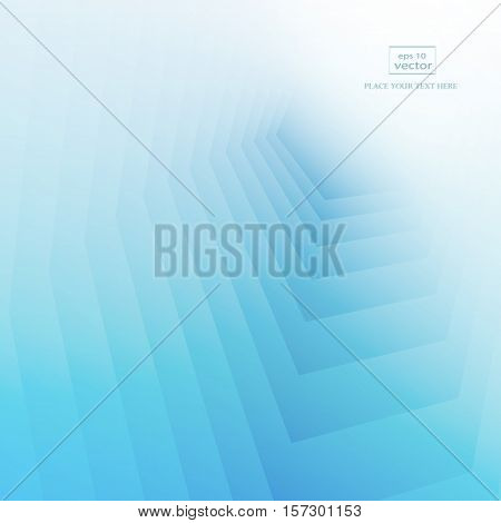 Blue background with copy-space. Lowpoly vector illustration. Used opacity mask of background