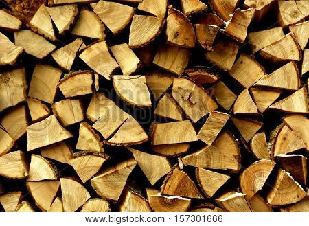 Pile Of Firewood Pattern.