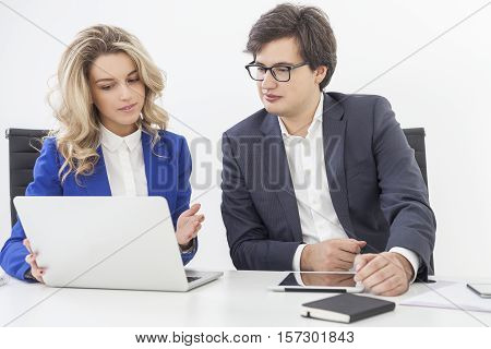 Boss Is Listening To His Subordinate's Talk