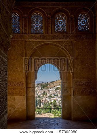 Granada Spain - 8th September 2016: A view from the Alhambra Palace.