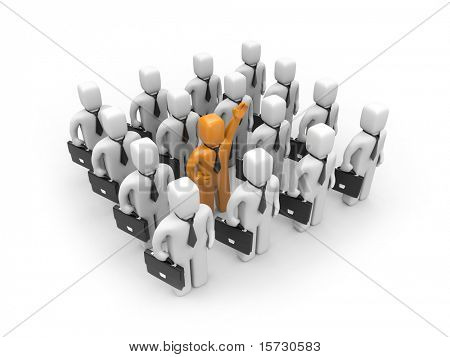 Strong team with different person. Leadership or recruitment