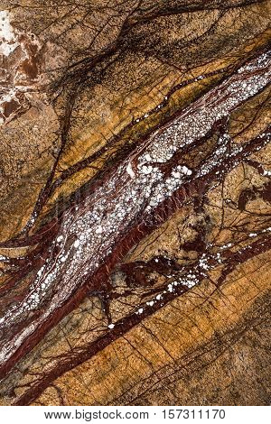 Natural Beautiful Marble In Dark And Warm Colors