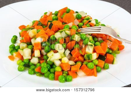 Ragout of Celery, Carrots, Peas, Sweet Pepper and Tomato Studio Photo