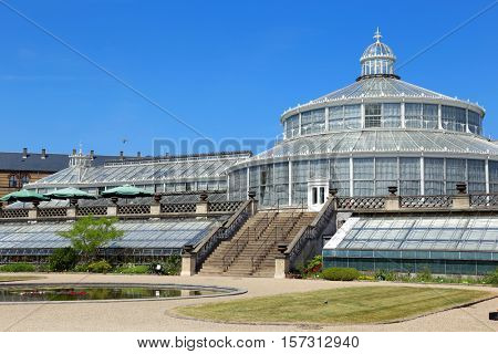 COPENHAGEN, DENMARK - JUNE 07, 2016:  Visiting the XIX cen. Botanical Garden in Copenhagen, Denmark on June 07, 2016.