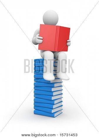 Person read book