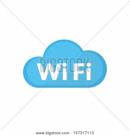 Cloud Wifi Icon Is Basic Vector Icon, Eps10