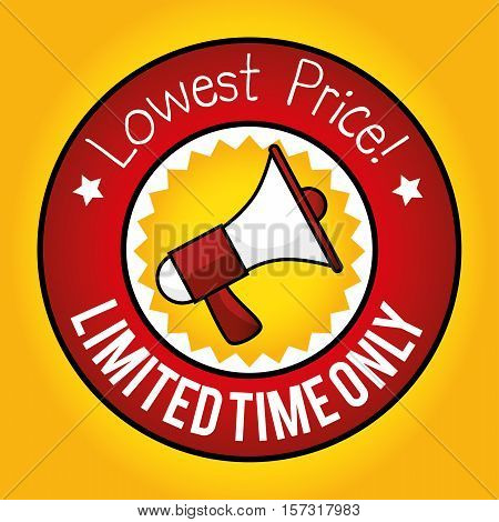 lowest price limited time only megaphone marketing vector illustration eps 10