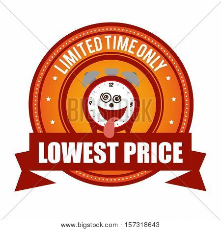 lowest price limited time onli crazy clock cartoon vector illustration eps 10