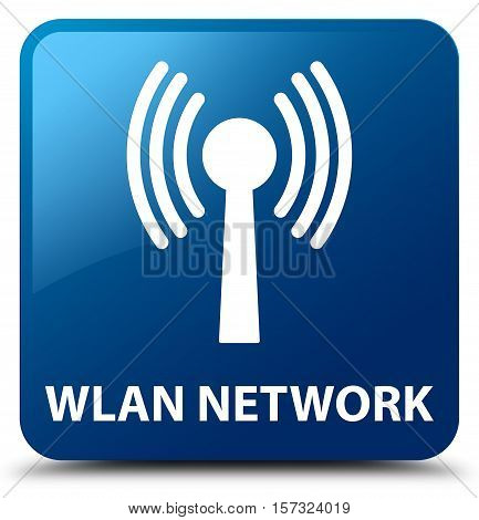 Wlan network (communication icon) blue square button