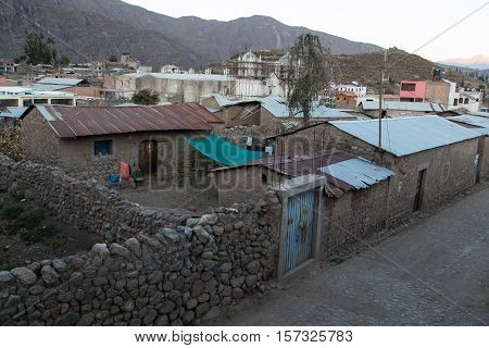 The village of Cabanaconde, Colca Canyon, Peru