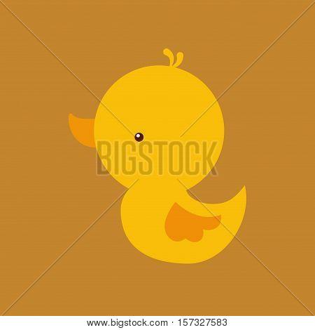 cute duck icon over white background. colorful design. vector illustraiton