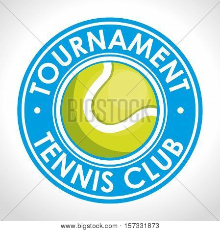 tournament tennis club blue badge vector illustration eps 10