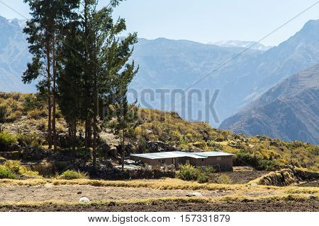 Viewpoint at the village of Cabanaconde, Colca Canyon, Peru